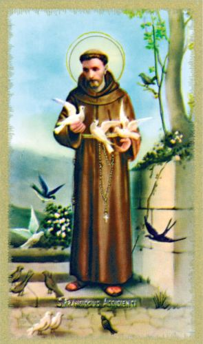 Saint Francis of Assisi Prayer Card