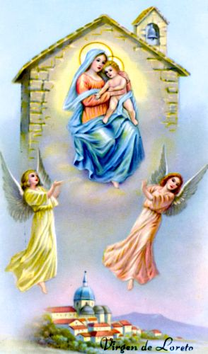 Our Lady of Loreto Holy Card