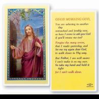 Good Morning God Holy Card