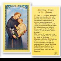 Unfailing Prayer to St Anthony Holy Card