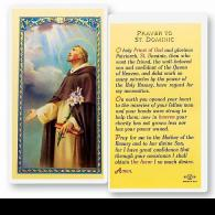 Prayer to St Dominic Holy Card