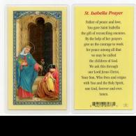 St Isabella Prayer Card