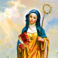 St Monica Holy Card